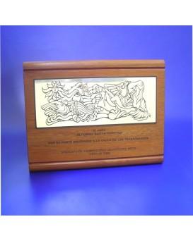Galvano rauli con placa y grabado
