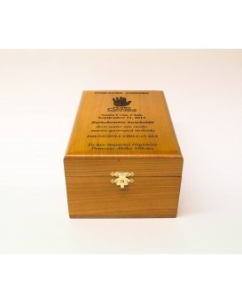Galvano Caja de madera Alerce grande